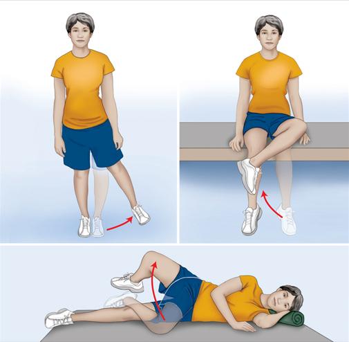 Csípő gyakorlatok - gyógytorna